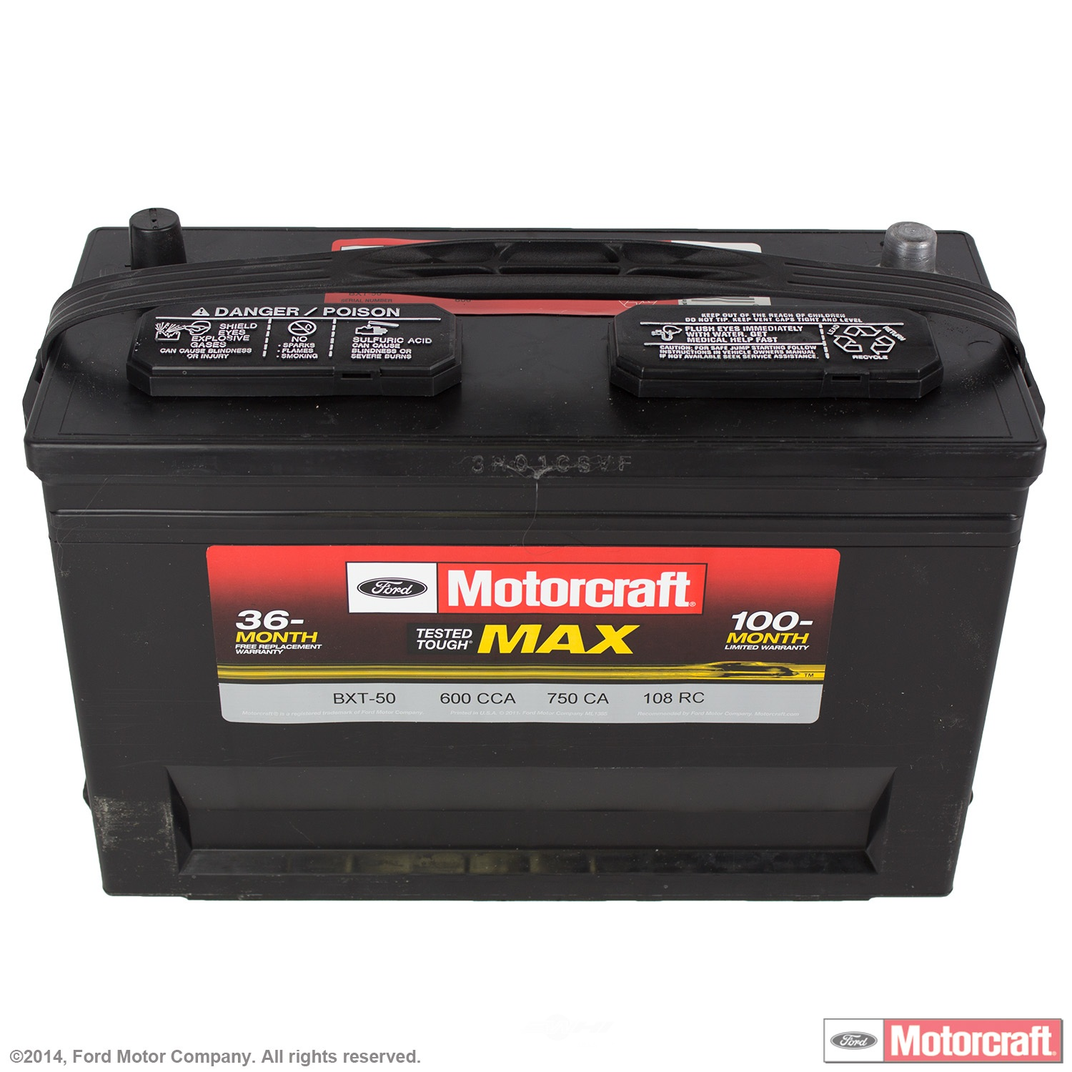 Battery Tested Tough Max Motorcraft Fits 92 96 Ford E 350