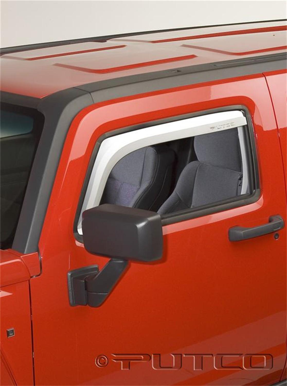 Foto de Cara de la ventanilla de ventilación Element Chrome Visor para Hummer H3 2006 Marca PUTCO Número de Parte 480504