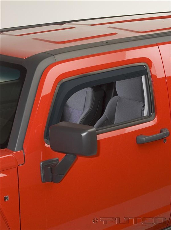 Foto de Cara de la ventanilla de ventilación Element Tinted Visor para Hummer H3 2006 Marca PUTCO Número de Parte 580504