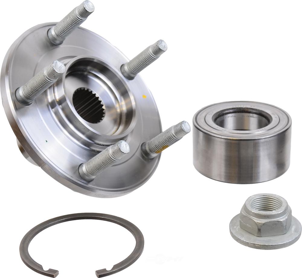 Wheel Axle Kits : Axle wheel bearing and hub assembly repair kit rear skf