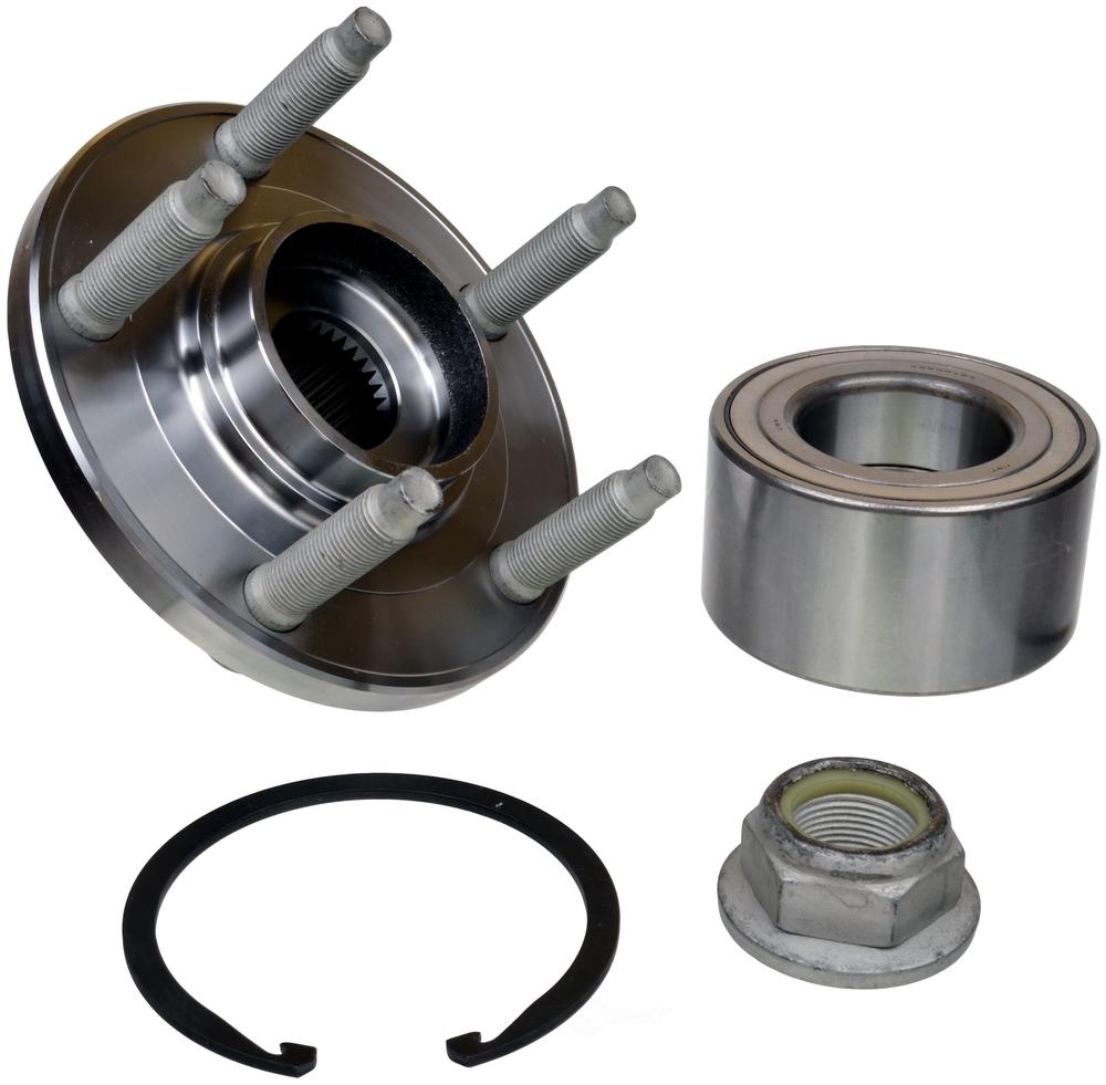 Wheel Axle Kits : Axle wheel bearing and hub assembly repair kit front skf