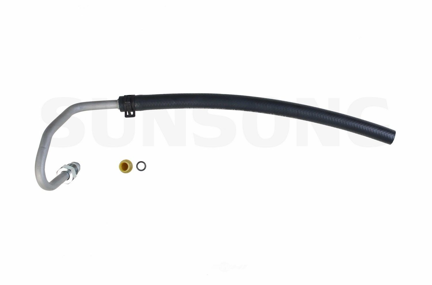power steering return line hose assembly fits 91