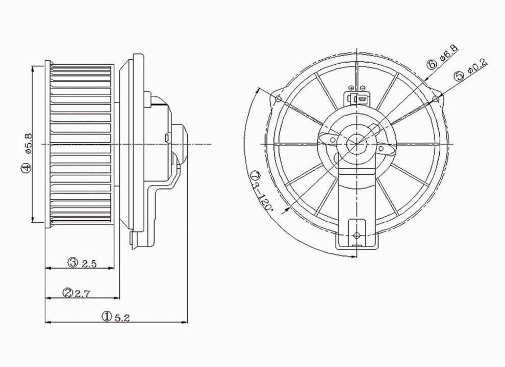 HVAC Blower Motor Front TYC 700001 on Blower Motor Front