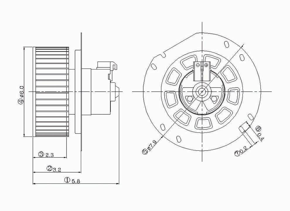 Hvac Blower Motor Front Tyc 700020 Ebay