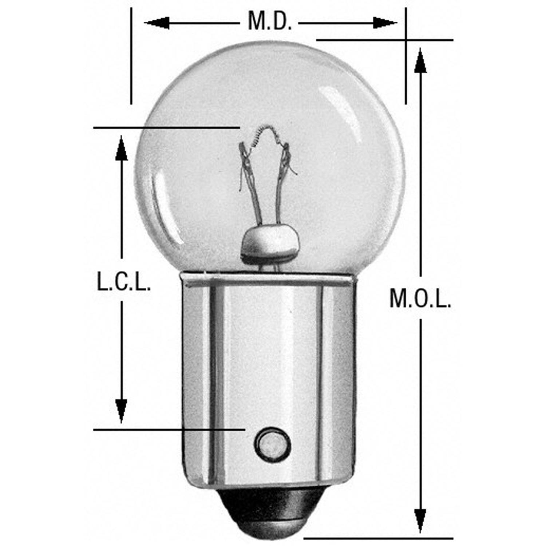 Instrument Panel Light Bulb Rear/Front Wagner Lighting 57