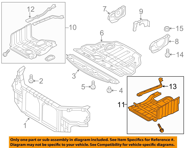 Hyundai Sonata Engine Cover Diagram Com Acirc Reg H100 Wiring Pdf Oem Under Radiator Splash Shield Left