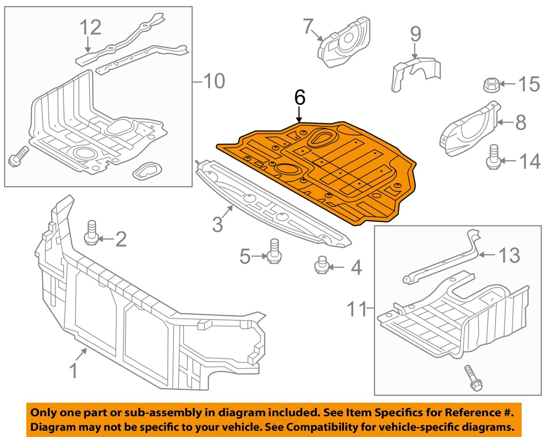hyundai oem 11 14 sonata under radiator engine cover 2011 Hyundai Sonata  Wiring Diagrams Hyundai Sonata