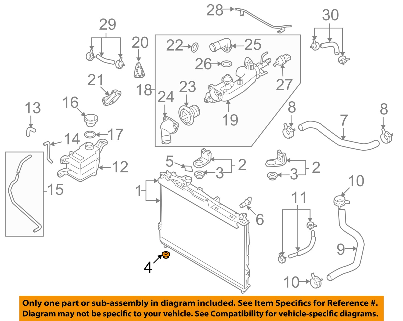 hyundai oem 07 09 santa fe 3 3l v6 radiator assembly lower. Black Bedroom Furniture Sets. Home Design Ideas