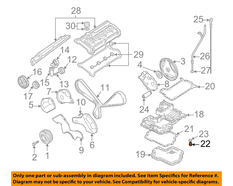 Audi Parts Oem Audi Oem 04 09 S4 Engine Parts Drain Plug 028103059a Ebay