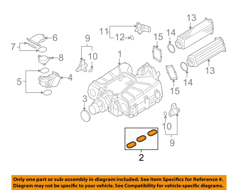 Buy Audi Oem 09 16 A6 Quattro Engine Intake Manifold Gasket With Diagram 079129717d