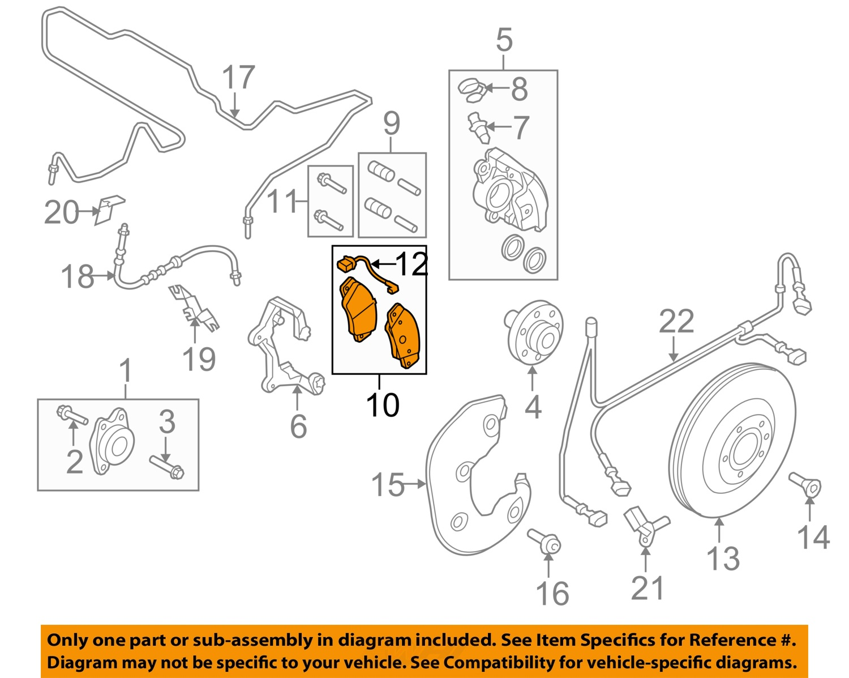 audi brakes diagram audi oem 09-12 q5 brake-front pads 8k0698151l   ebay renault brakes diagram