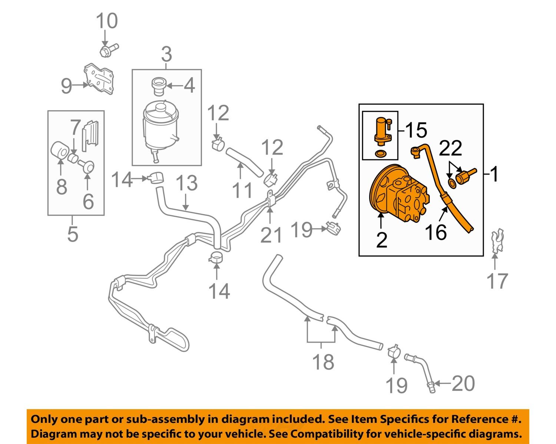 SUZUKI OEM 07-09 SX4-Power Steering Pump 4911080J00