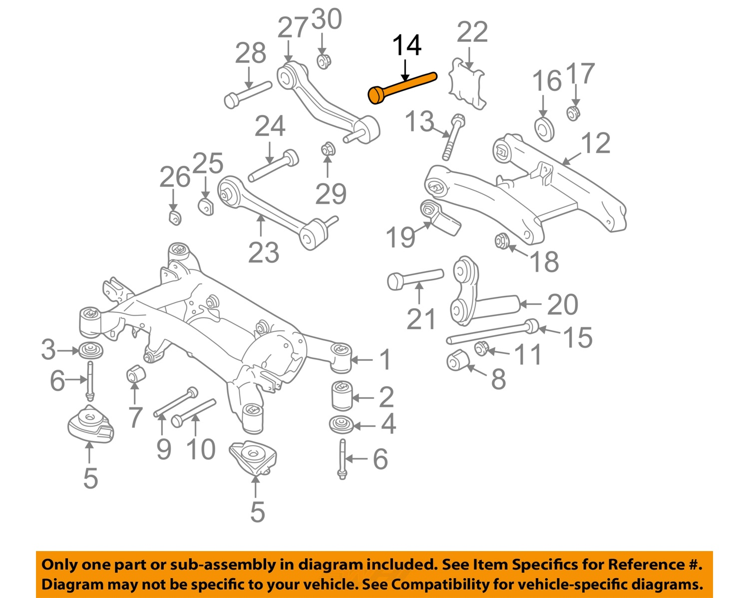 bmw oem 97-03 540i rear suspension-lower control arm bolt ... jeep grand cherokee rear suspension diagram #3