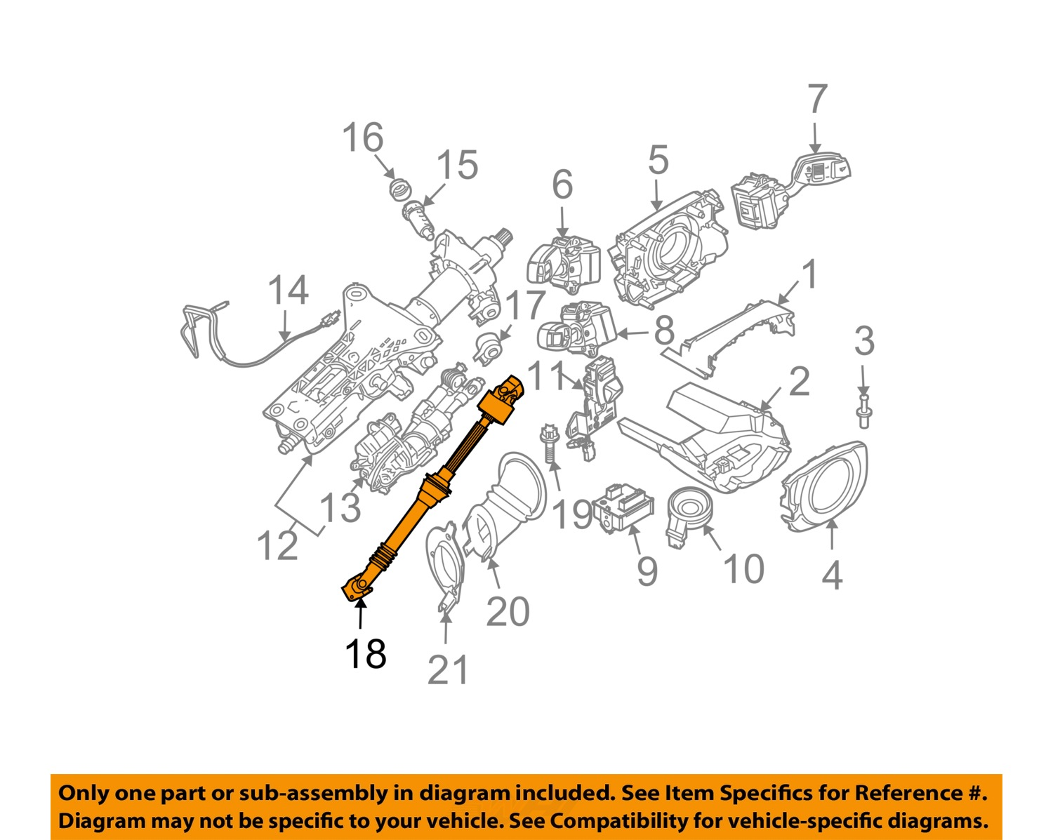 Bmw Oem 2009 528i Steering Column