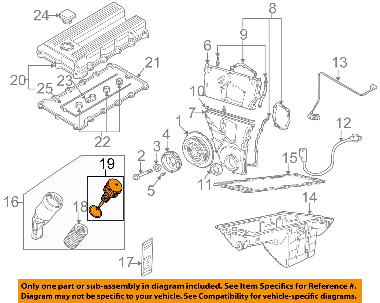 1990 bmw 525i engine diagram bmw oem 96-99 318ti engine-oil filter 11421715960 | ebay