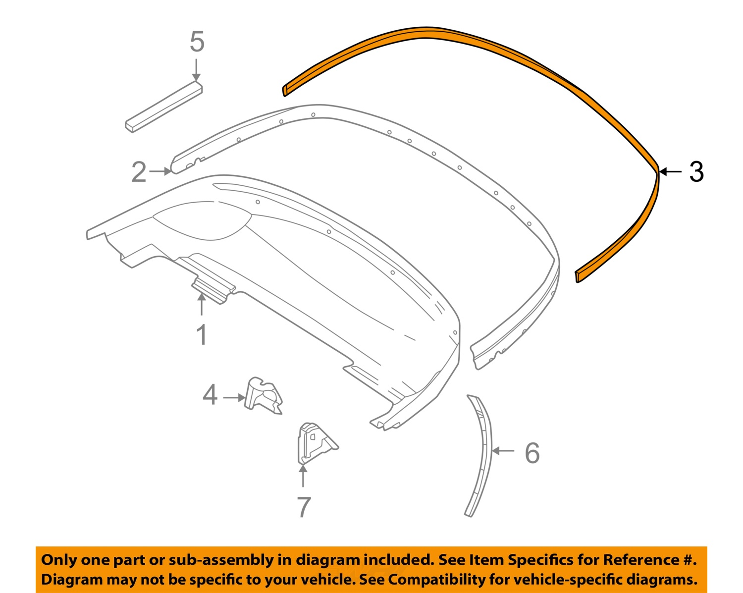 Bmw Oem 96 02 Z3 Convertible Soft Top Cover Gasket