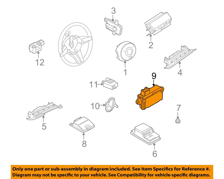 bmw srs diagram bmw get image about wiring diagram description bmw oem 2005 z4 airbag air bag srs side impact sensor 65776961411