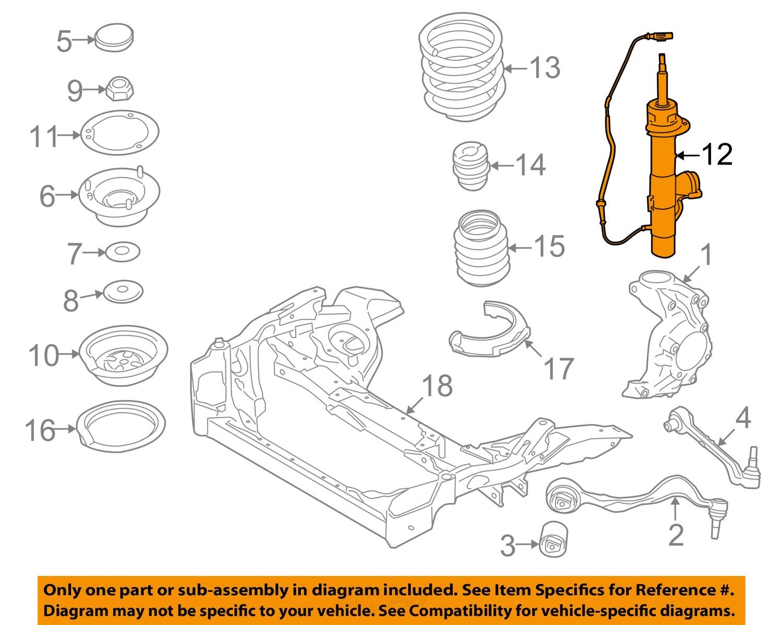 Bmw Oem 09 11 Z4 Front Suspension Strut 37116792892