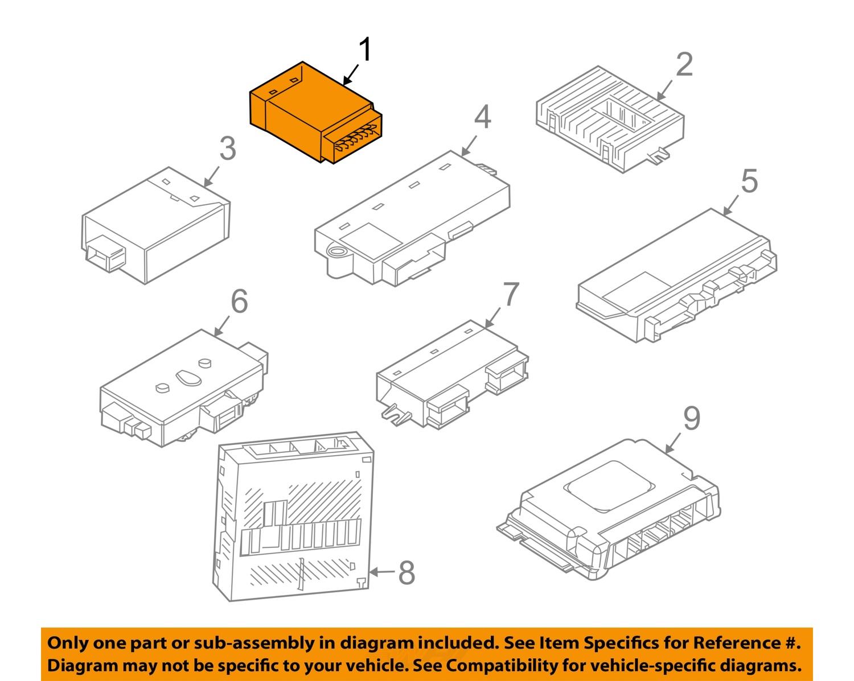bmw oem 06 07 m6 electrical control module 61359266274 ebay. Black Bedroom Furniture Sets. Home Design Ideas