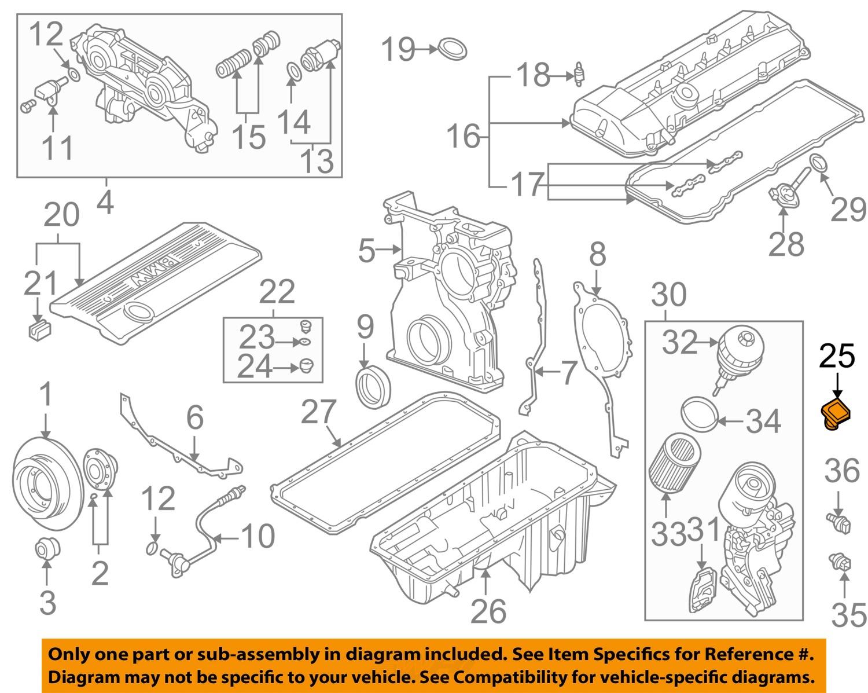 Images Of V8 Engine Diagram Bmw Spacehero X5 00 10 4 4l Oil Filler Cap 11127509328 Ebay