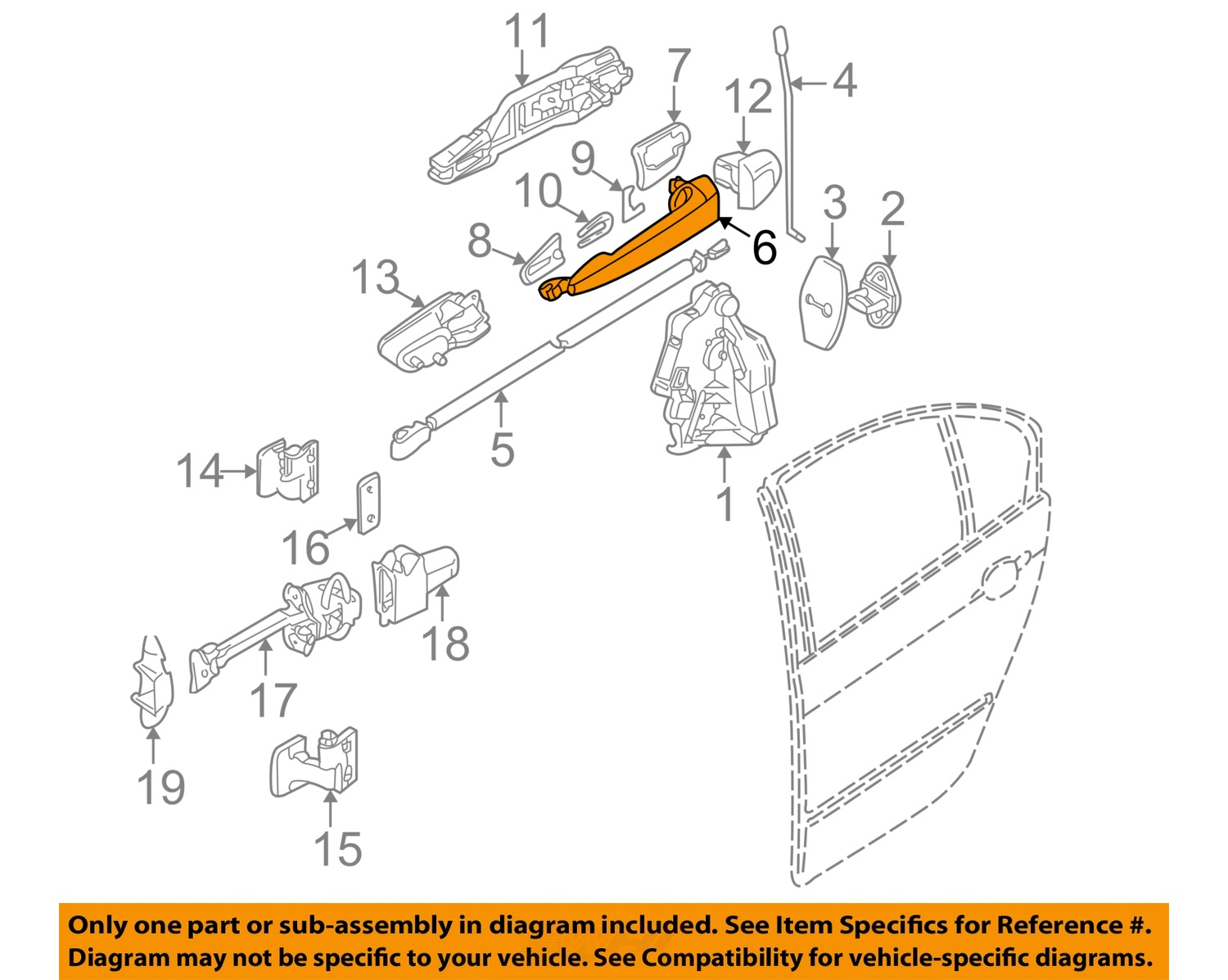 bmw oem 2000 323i-outside exterior door handle left ... 2000 bmw 323i radio antenna wiring diagram