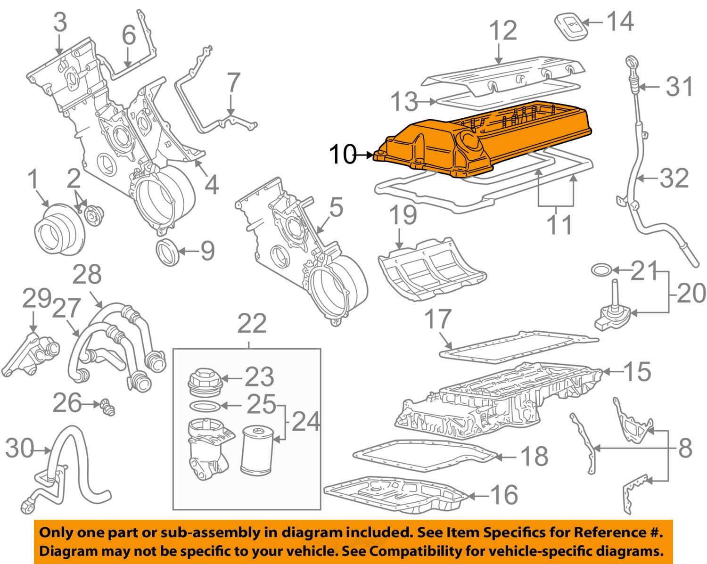 bmw oem 99 03 540i engine valve cover 11121703172