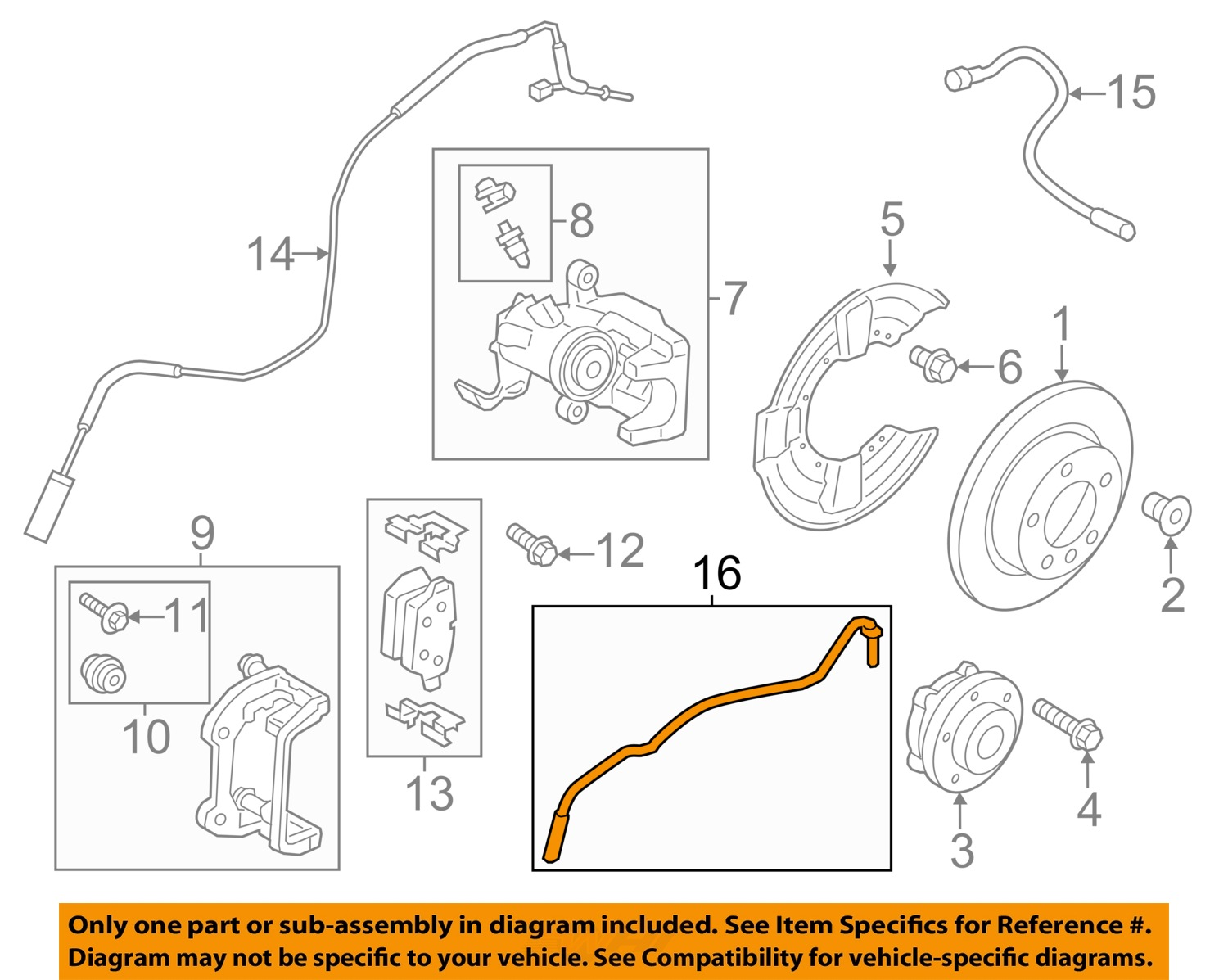 mini oem cooper countryman abs anti-lock brakes-rear speed ... 2006 mini cooper s wiring diagram mini cooper abs wiring diagram