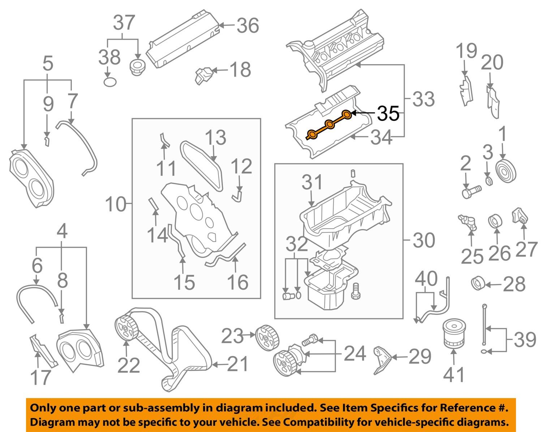 kia oem 03 06 sorento 3 5l v6 engine valve cover gasket. Black Bedroom Furniture Sets. Home Design Ideas