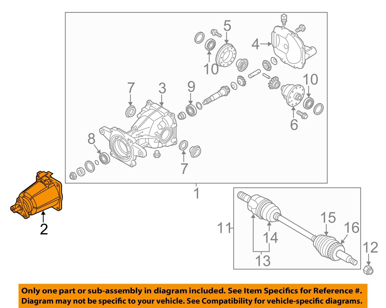 KIA OEM 1113 Sorento Axle DifferentialRearCoupling 4780024700 – Diagram Of Rear Engine 3116