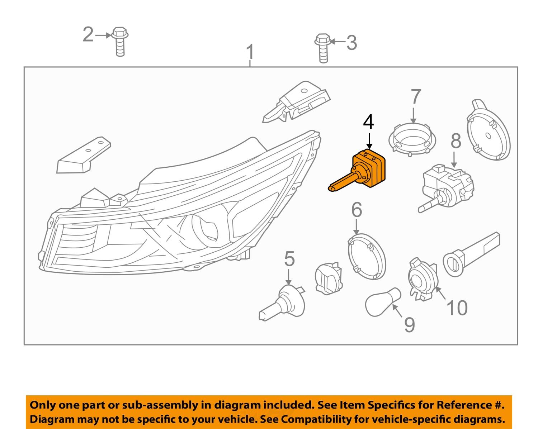 kia oem 2016 sorento headlight headlamp bulb 1864735010 ebay. Black Bedroom Furniture Sets. Home Design Ideas