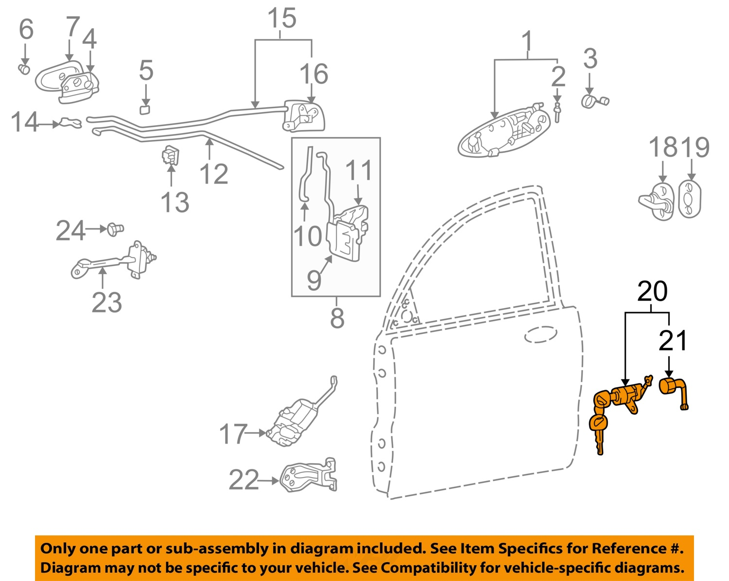 1999 Kia Sportage Driver Door Latch Repair Diagram