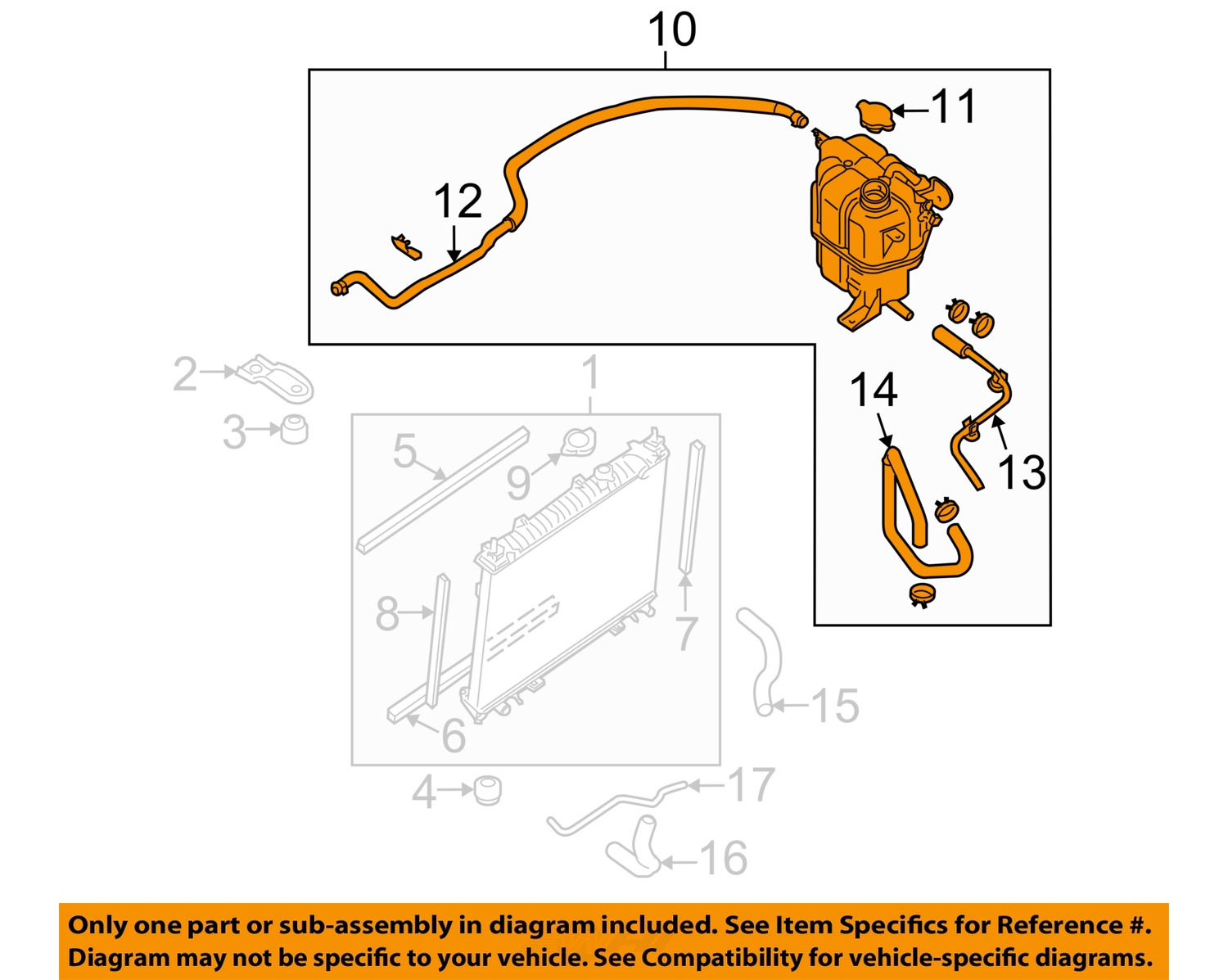 nissan oem 05 08 frontier 4 0l v6 engine coolant recovery tank 21710ea01a ebay