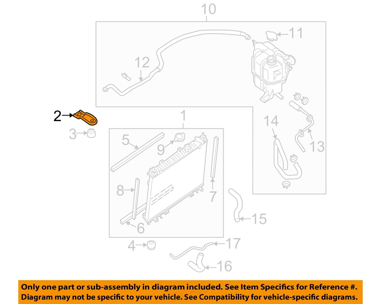 nissan oem 05 16 frontier 4 0l v6 radiator assembly bracket 21542ea000 ebay
