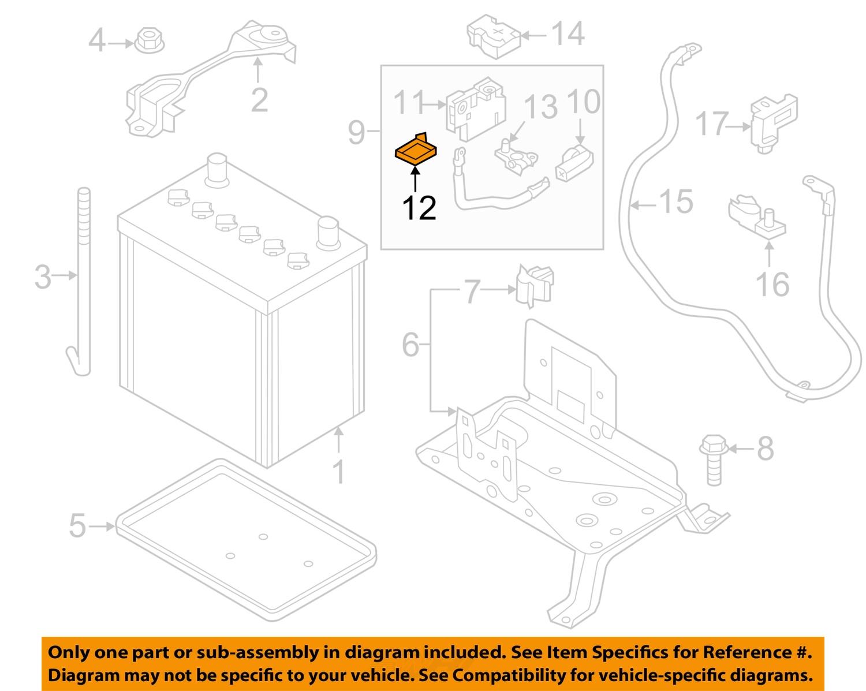 nissan 11 12 leaf battery fuse holder clip 24216w1000 ebay