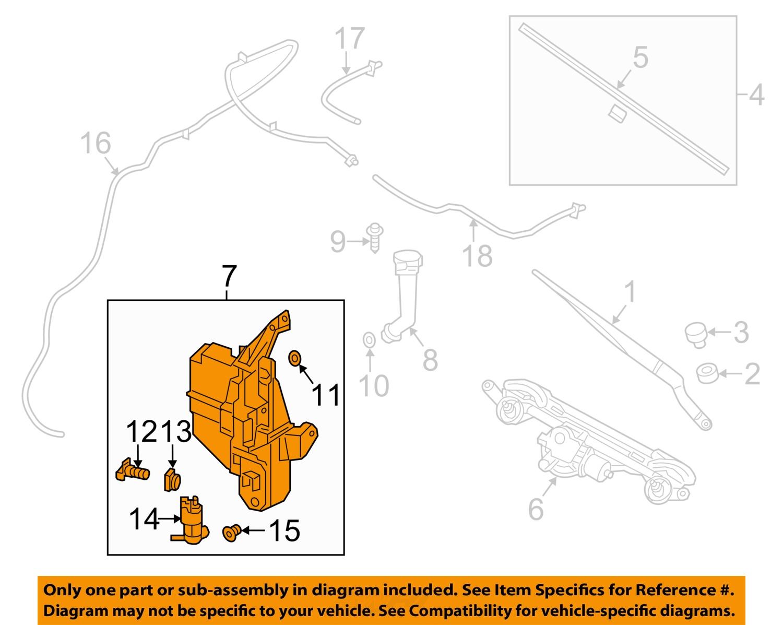 nissan oem 13 16 altima wiper washer windshield fluid reservoir tank 289109hm0b