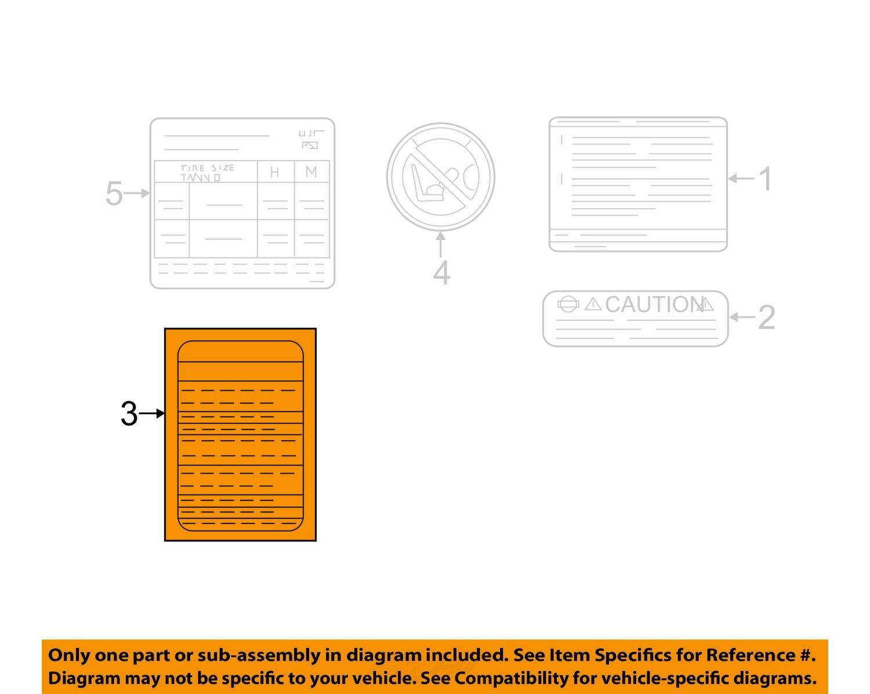 nissan 13 15 nv200 information labels fuse box label 243133lm0a ebay