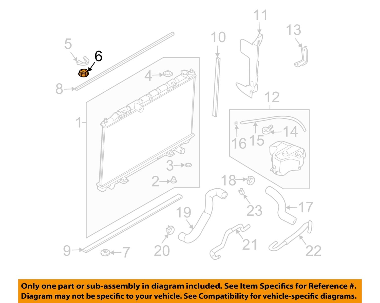 nissan oem 07 14 altima 2 5l l4 radiator assembly upper. Black Bedroom Furniture Sets. Home Design Ideas