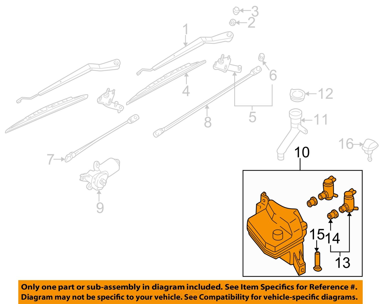 infiniti nissan oem qx4 wiper washer windshield fluid reservoir tank 289101w500 ebay