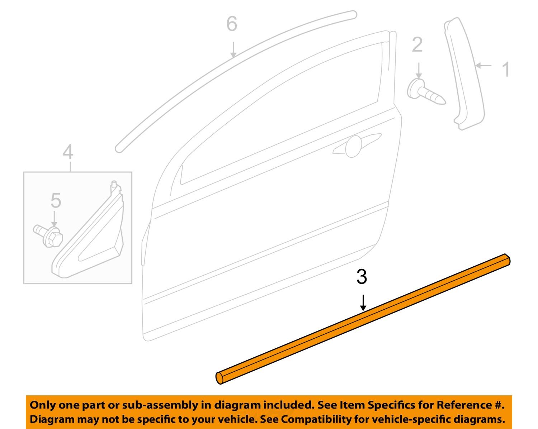Honda oem civic door window sweep belt molding for Window weather stripping