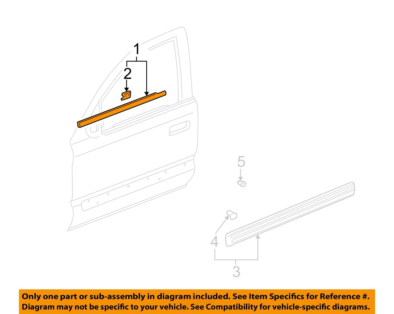 Honda oem front door window sweep belt molding for Front door weather stripping