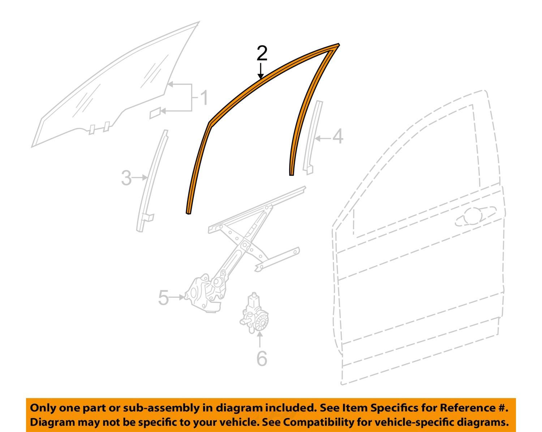 Genuine Honda Belt Molding 72450-TR0-A01