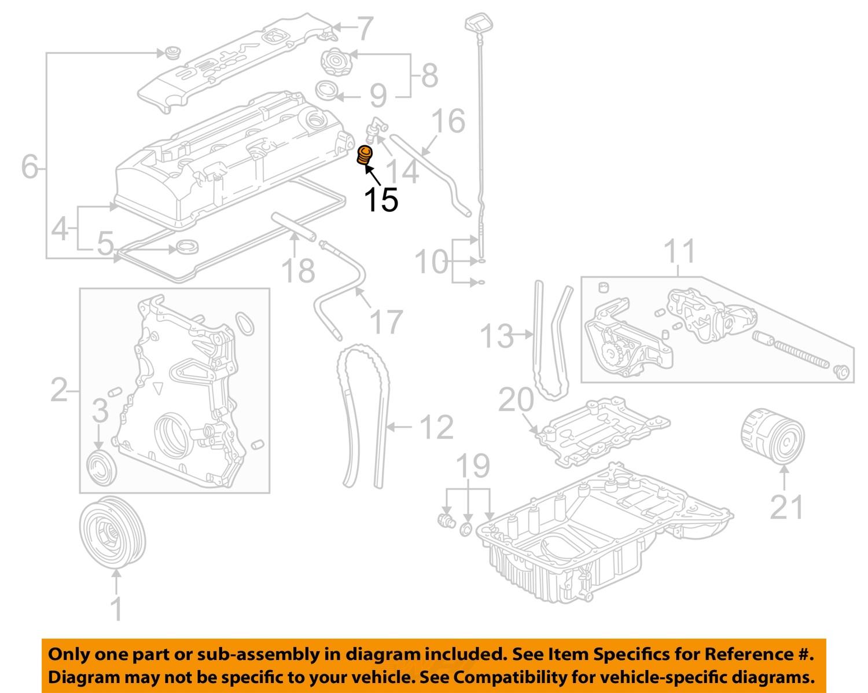 honda oem 00 03 s2000 2 0l l4 engine pcv valve grommet 17139pk1000 ebay