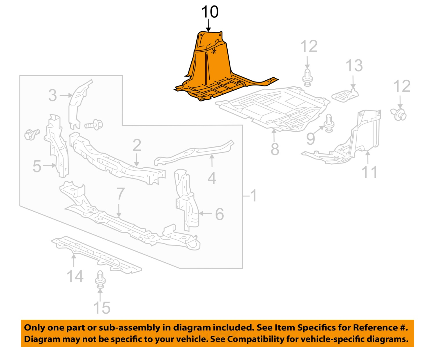 Assembly INSIGHT 10-14 RADIATOR SUPPORT