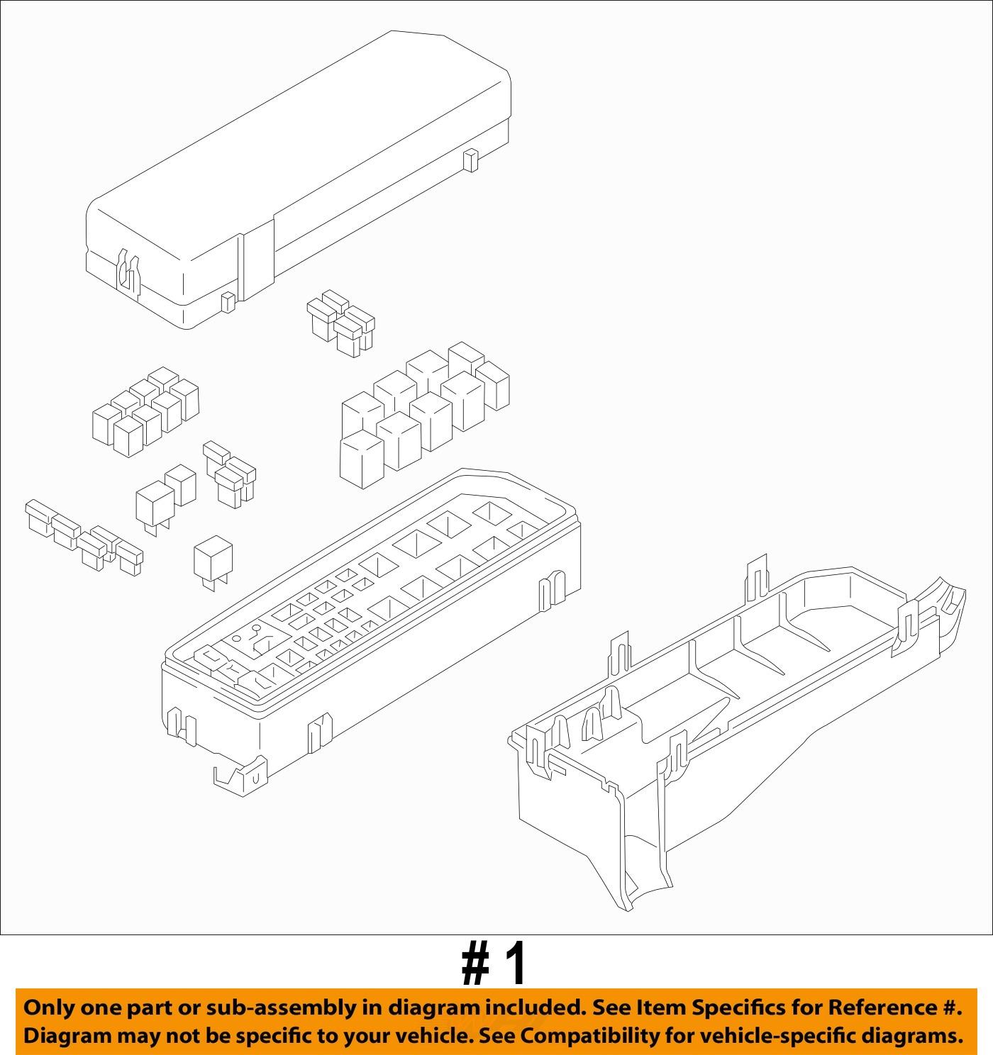 mazda oem 2011 tribute 3 0l v6 fuse box fuse relay box zzeb67010 ebay