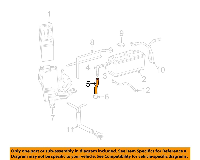 mercedes oem 06 16 e350 3 5l v6 battery drain hose 0249974982 ebay
