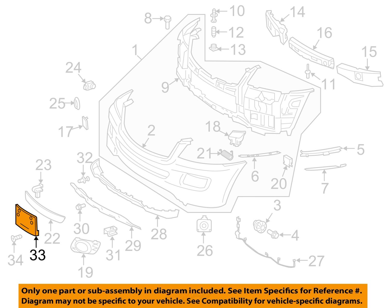 Mercedes mercedes benz oem 06 08 ml350 license plate for Mercedes benz parts ebay