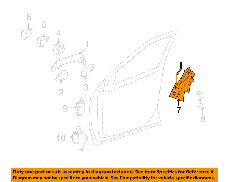 Mercedes mercedes benz oem 07 11 ml350 front door lock for Mercedes benz ml350 door lock actuator