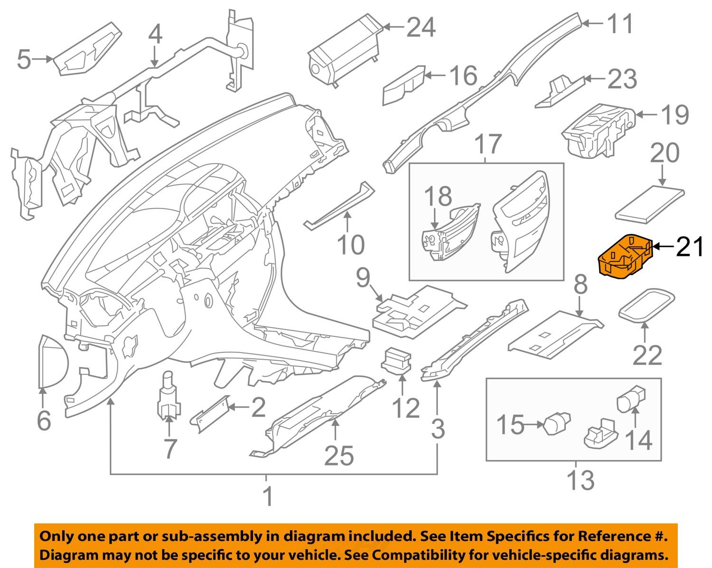 Mercedes mercedes benz oem s550 instrument panel dash cup for Mercedes benz parts ebay