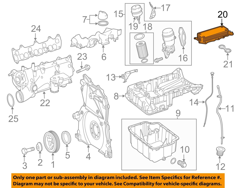 mercedes oem 10 16 sprinter 2500 engine oil cooler. Black Bedroom Furniture Sets. Home Design Ideas