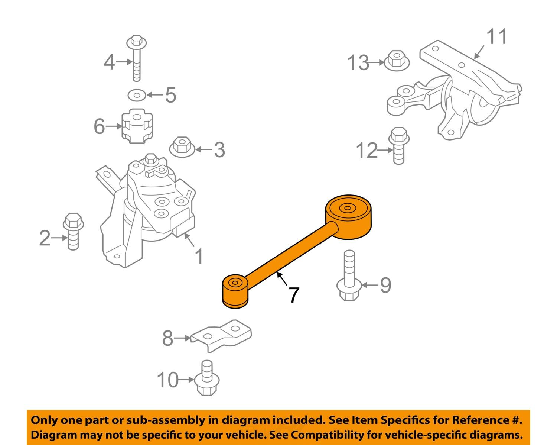 mitsubishi oem 2014 mirage engine motor mount torque strut 1092a096
